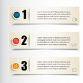 Infographics Vector illustration. Set of three banners for infographic