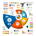 Infographics vector layout with icons elements Royalty Free Stock Photography