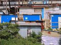 An informal rural settlement in Durban, South Africa. Royalty Free Stock Photo