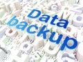 Information concept data backup on alphabet background d render Stock Images