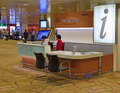 Information Desk at Changi Airport Terminal 2 Royalty Free Stock Photo