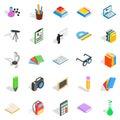 Information icons set, isometric style