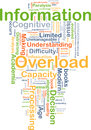 Information overload background concept
