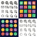Information Protection & Information Security Icons All in One Icons Black & White Color Flat Design Freehand Set Royalty Free Stock Photo