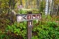 Information sign post