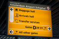 Information sign in Schiphol airport Royalty Free Stock Photo