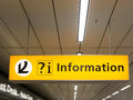 Information sign at Schiphol Amsterdam Airport, Holland Royalty Free Stock Photo