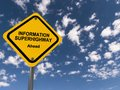 information superhighway ahead Royalty Free Stock Photo