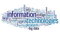 Information technology in tag cloud concept on white background Royalty Free Stock Images