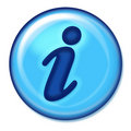 Information Web button Royalty Free Stock Photo