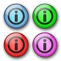 Information web buttons Stock Photography