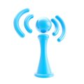 Information and wireless signal glossy icon isolated blue on white Royalty Free Stock Photography