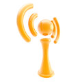Information and wireless signal glossy icon isolated orange on white Stock Photography