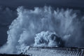 Infrared big wave splash Royalty Free Stock Photo
