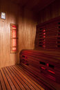 Infrared sauna cabin domestic luxury Royalty Free Stock Photo