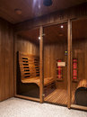 Infrared sauna cabin domestic luxury Stock Photography