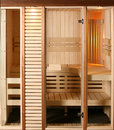 Infrared sauna cabin domestic luxury Royalty Free Stock Images