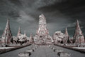 Infrared wat chai wattanaram picture at the most beautiful temple of ayuthaya thailand Royalty Free Stock Images