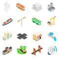 Infrastructure Icons set Royalty Free Stock Photo