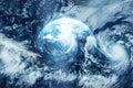 Infuri sulla terra vista da spazio immagine originale dalla nasa Immagini Stock Libere da Diritti