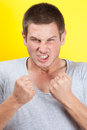 Infuriated man Royalty Free Stock Photo