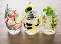 Infused water Royalty Free Stock Photo