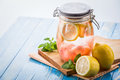 Infused Water Mix Of Lemon And...