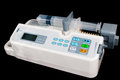Infusion pump isolated on black Stock Photography