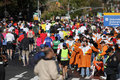 ING New York City Marathon, water line Royalty Free Stock Image