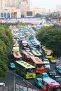 Ingorgo stradale a Xi'an, Cina Immagini Stock Libere da Diritti
