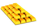 Ingots gold Royalty Free Stock Image