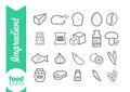 Ingredient line icons Royalty Free Stock Photo