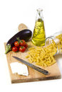 INGREDIENTES DE ALIMENTO ITALIANOS Imagem de Stock Royalty Free