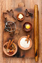 Ingredients for baking on a cutting board Royalty Free Stock Photo