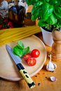 Ingredients for cooking italian food Royalty Free Stock Photography