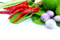 Ingredients group of Tomyum(Thai food) Royalty Free Stock Photography