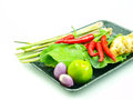 Ingredients group of Tomyum(Thai food) Stock Photo