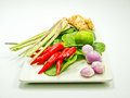 Ingredients group of Tomyum(Thai food) Royalty Free Stock Image