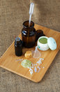 Ingredients for making homemade cosmetics Royalty Free Stock Photo