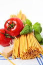 Ingredients for pasta Royalty Free Stock Images