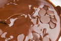 Ingredients for preparation of artisanal chocolate bar melted cocoa Stock Photos