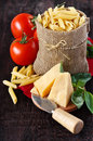 Ingredients for preparing pasta. Royalty Free Stock Images