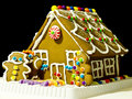 Ingwer-Brot-Haus Lizenzfreie Stockfotografie