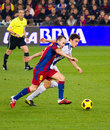 Iniesta (FC Barcelona) Royalty Free Stock Photo