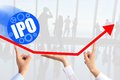 Initial public offering & x28;IPO& x29; or stock market launch concept Royalty Free Stock Photo