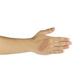 Injured hand and finger covered by plaster on white background Royalty Free Stock Photo