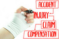 Injury claim Royalty Free Stock Photo