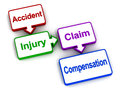 Injury insurance compensation Royalty Free Stock Photo