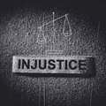 Injustice imbalance concept in the dark tone Royalty Free Stock Photography