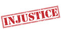 Injustice red stamp